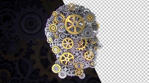 Head With Rotating Gear Wheels