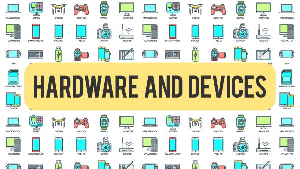 Thumbnail for Hardware And Devices - 30 Animated Icons