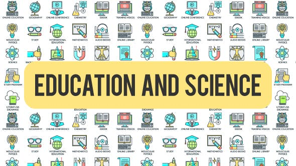 Thumbnail for Education And Science - 30 Animated Icons