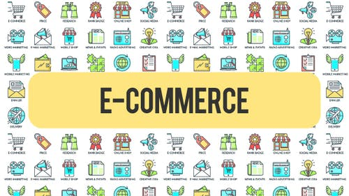 E - Commerce - 30 Animated Icons