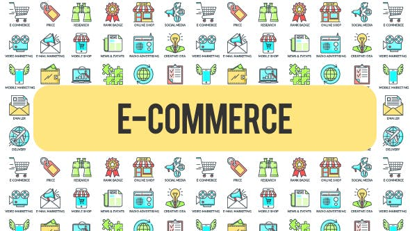 Thumbnail for E - Commerce - 30 Animated Icons