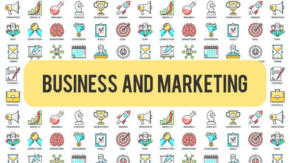Thumbnail for Business And Marketing - 30 Animated Icons