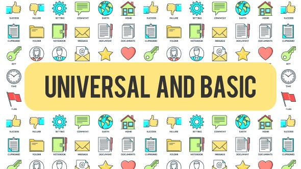 Thumbnail for Universal And Basic - 30 Animated Icond