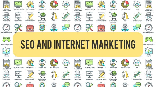 Thumbnail for SEO And Internet Marketing - 30 Animated Icons