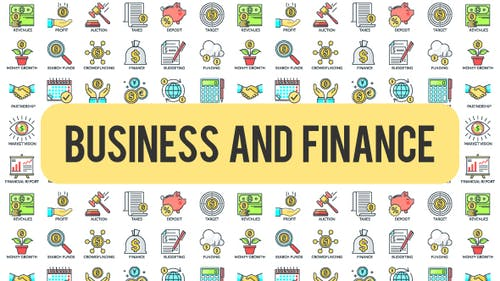 Business And Finance - 30 Animated Icons