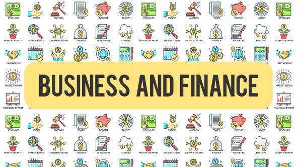 Thumbnail for Business And Finance - 30 Animated Icons