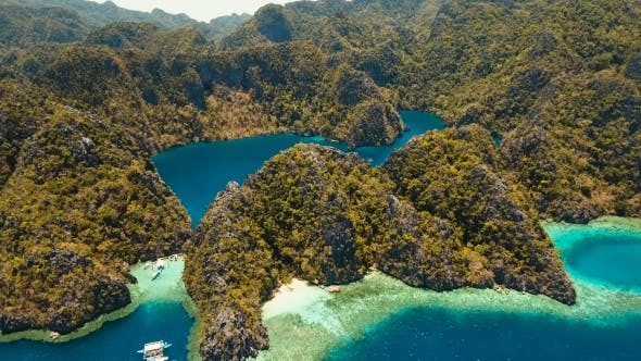 Thumbnail for Aerial View of a Tropical Lagoon