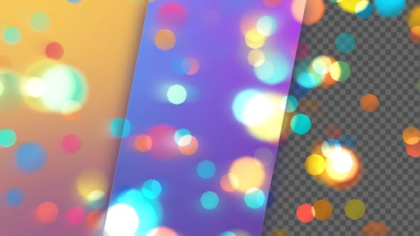 Sweet Colors Bokeh Background And Overlay