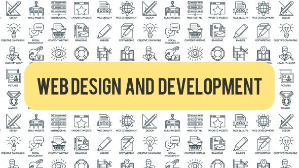 Web Design And Development - Outline Icons