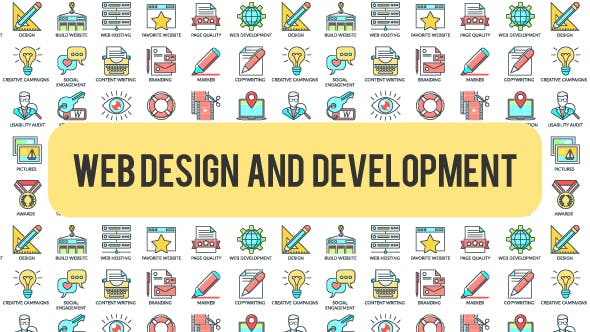 Thumbnail for Web Design And Development - 30 Animated Icons