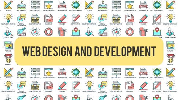 Web Design And Development - 30 Animated Icons