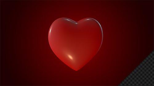 Rotating Red Heart Symbol