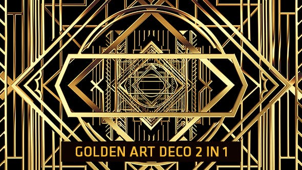 Thumbnail for Golden Art Deco 2 in 1
