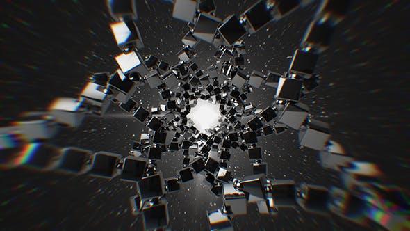 Thumbnail for Stylish Monochrome Stars Tunnel