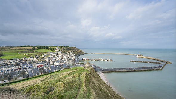Thumbnail for View of the City Port-en-Bessin in Normandy, France