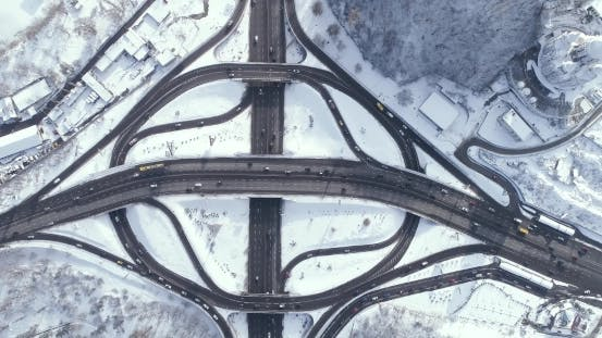 Thumbnail for Aerial View of a Turbine Road Interchange in Kiev.