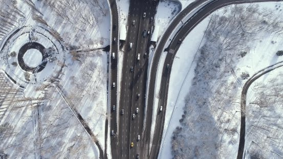 Thumbnail for Aerial View of a Turbine Road Interchange in Kiev