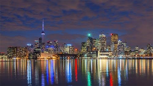 Toronto, Canada - Timelapse - Nightime from Polson Pier