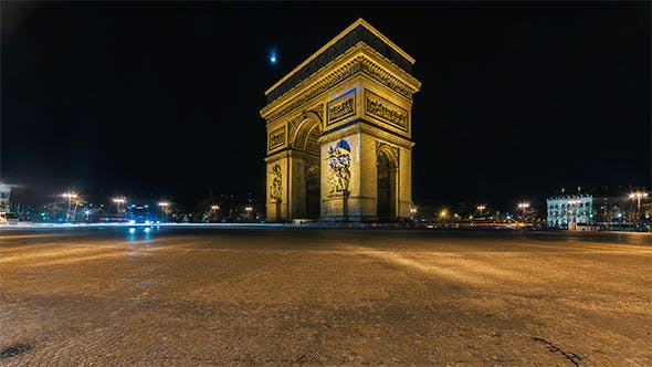 Thumbnail for Paris, France - The Arc de Triomphe