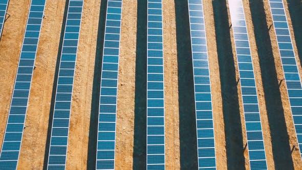 Thumbnail for Aerial above Solar Panel Farm