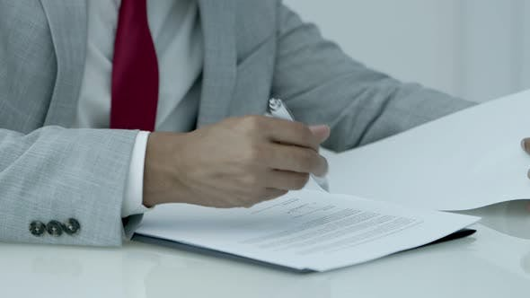 Thumbnail for Businessman Signing Contract