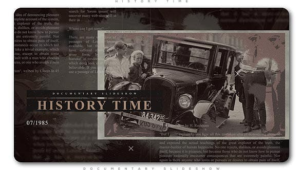 Cover Image for History Time Documentary Slideshow
