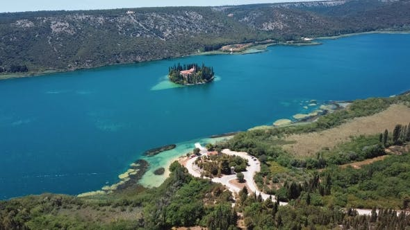 Thumbnail for Aerial View Krka River, Croatia