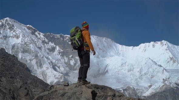The Tourist Climbs in the Himalayas