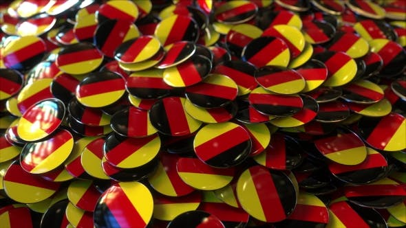 Thumbnail for Pile of Badges Featuring Flags of Germany