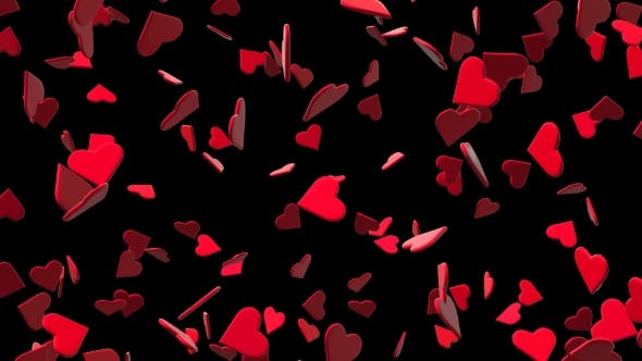 Thumbnail for Valentines Hearts Flying