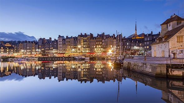 Thumbnail for Honfleur, Normandy, France - Day to Night