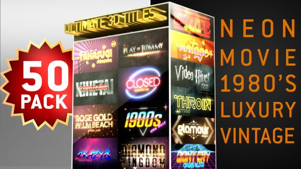 Thumbnail for Ultimate Youtube 3D Titles Logo Openers Pack