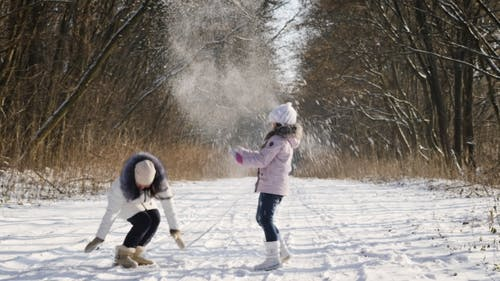Lancer de la neige