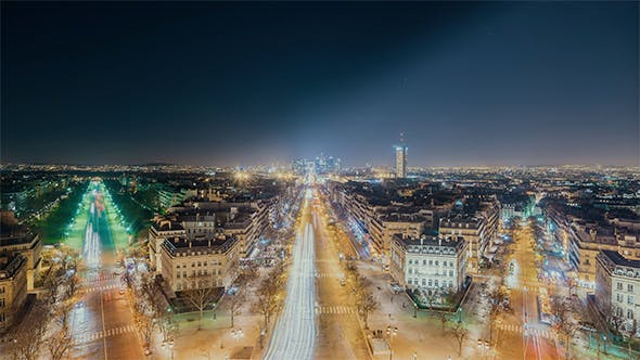 Thumbnail for Paris, France - View of The Avenue de la Grande Armee