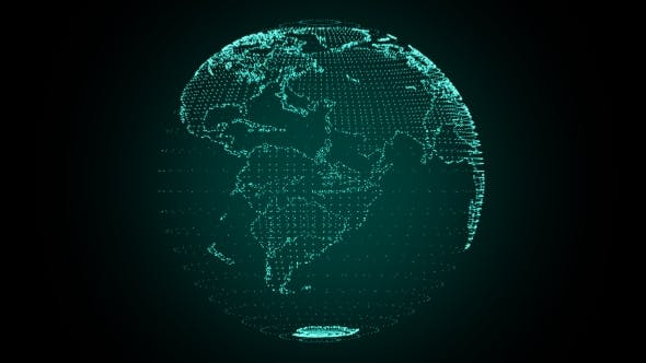 Thumbnail for Digital Earth Rotating Green