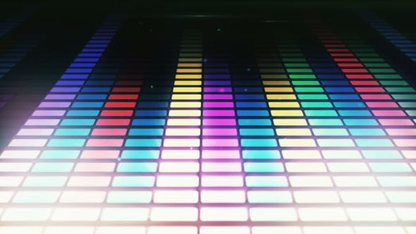 Colorful Audio Equalizer Background, Music Control Levels