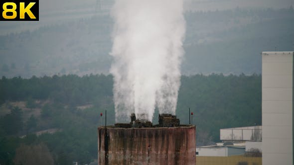 Thumbnail for Industrial Factory Chimney in the Forest