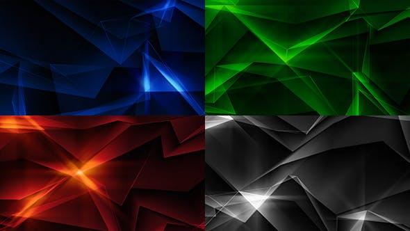 Thumbnail for Epic Shiny Polygonal Background