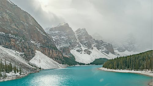 The Rockies, Canada   The Moraine Lake during the day