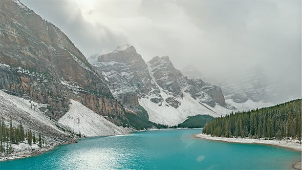 Thumbnail for The Rockies, Canada | The Moraine Lake during the day