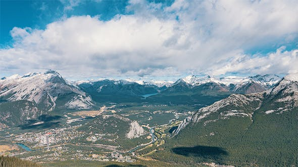Thumbnail for The iconic landscape during the daytime in Alberta, Canada