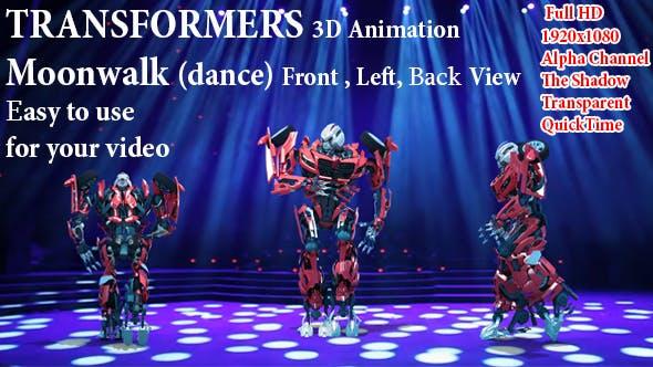 Thumbnail for 3D Roboter Transformator Moonwalk