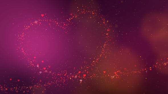 Thumbnail for Valentine Heart Particles Background