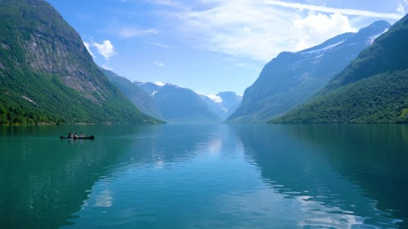 Thumbnail for Beautiful Nature Norway Lovatnet Lake