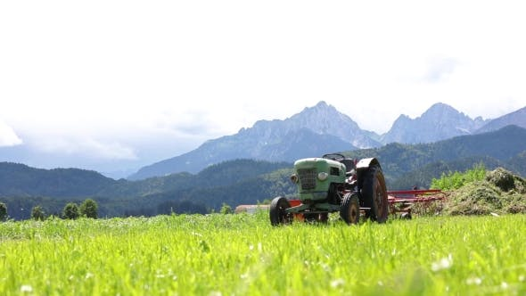 Thumbnail for Old Tractor in the Alpine Meadows