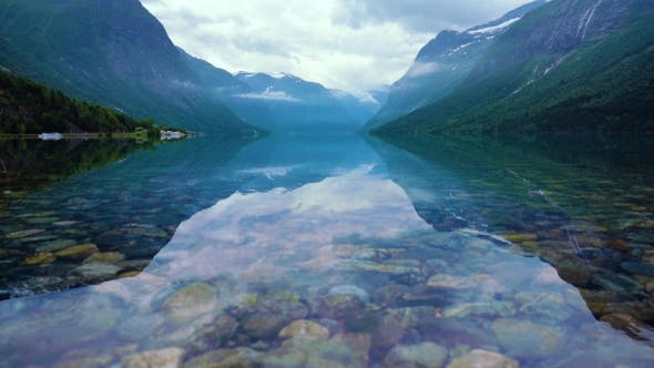 Cover Image for Beautiful Nature Norway Lovatnet Lake