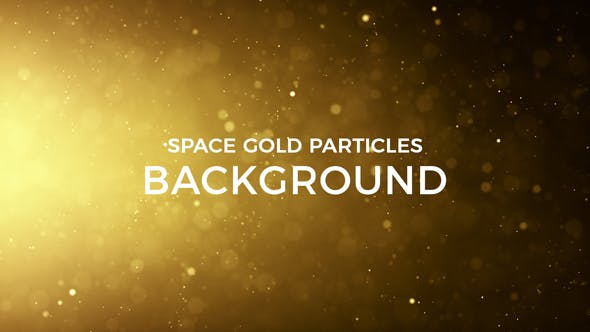 Cover Image for Space Gold Particles Background