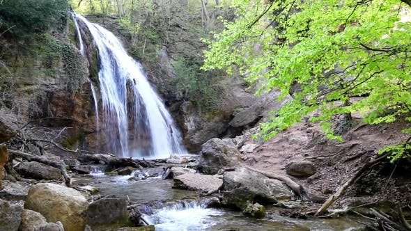 Thumbnail for Mountain Waterfall, Spring Flow Water
