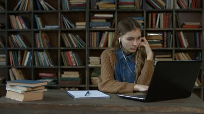 Clever Student Studying Distance Learning Courses