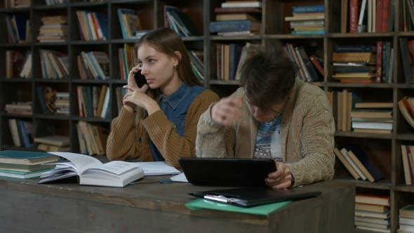 Thumbnail for Distracting Student Talking on Phone in Library
